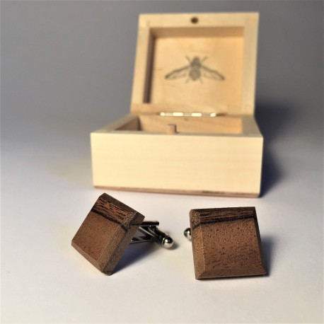 UNIQUE wooden cufflinks