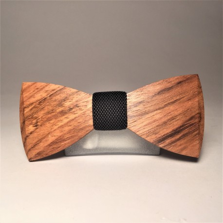 Wooden bow tie SHINE DARK GREY