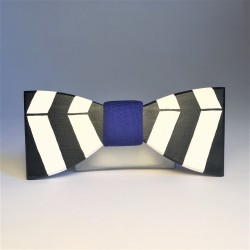 Hand painted wooden bow tie