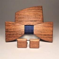 Wooden set ELEGANT BLUE LATTICE