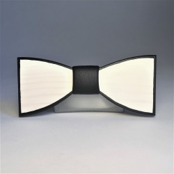 Wooden bow tie BLACK AND WHITE