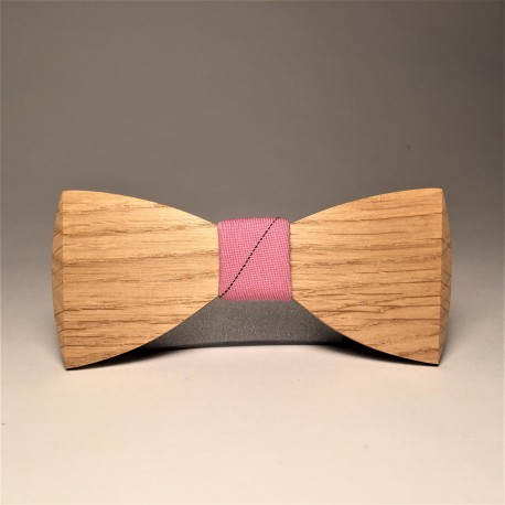 Wooden bow tie PALE ROSA