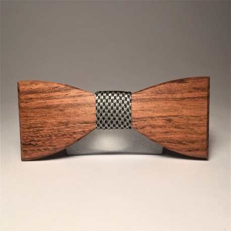 Wooden bow tie SPELL LATTICE