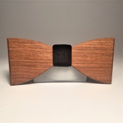 Wooden bow tie VELOURS BLACK