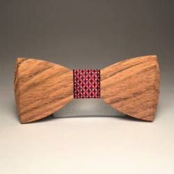 Wooden bow tie ELEGANT RED