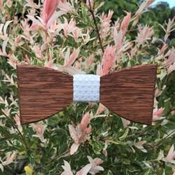 Wooden bow tie WEDDNIG TIME
