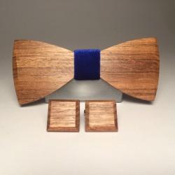 Drewniany komplet NAVY VELOURS