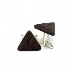 wooden triangular cufflinks