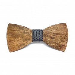 Wooden bow tie Midnight grey