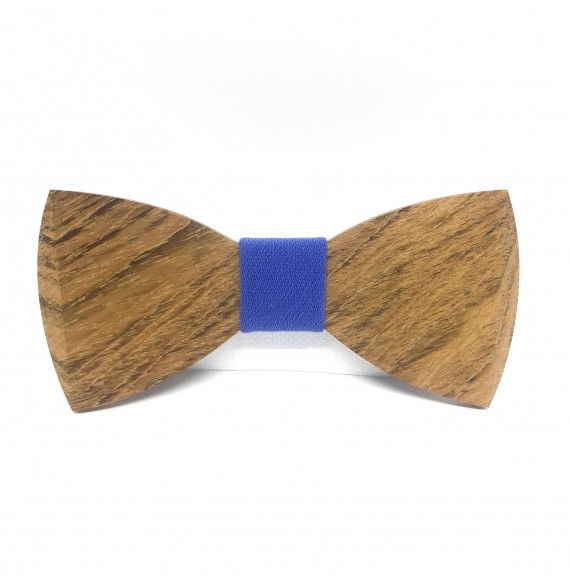 Wooden bow tie BLUE BOY