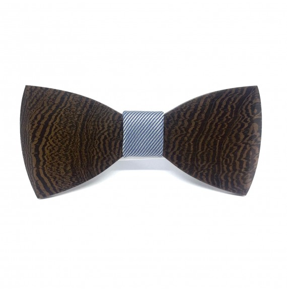 Wooden bow tie ELEGANT DARK