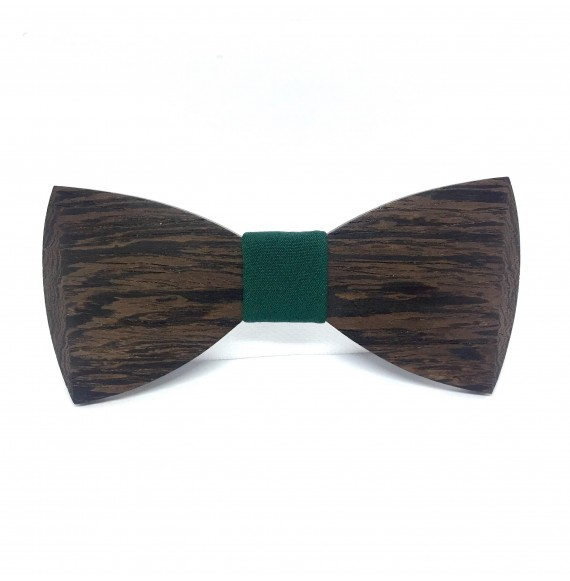 Wooden bow tie DEEP GREEN