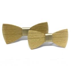 Drewniana muszka dla taty i syna