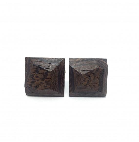 Drewniane spinki do mankietów