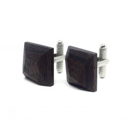 Wooden cufflinks BLACK DIAMOND