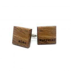 Wooden cufflinks MIMO WSZYSTKO