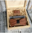 Wooden bow tie with set