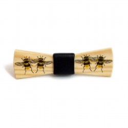 Wooden bow tie BEES