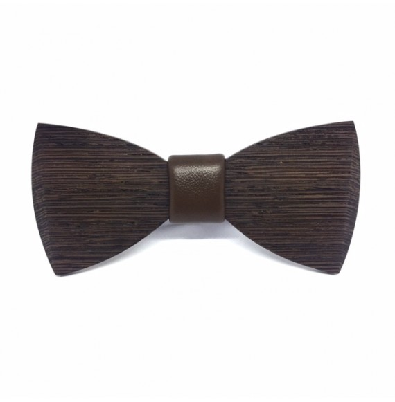 Wooden bow tie DEEP BROWN