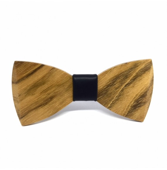 Wooden bow tie BLACK ONE