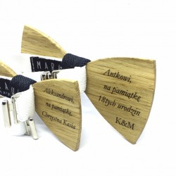 Graver on your bow tie or cufflinks