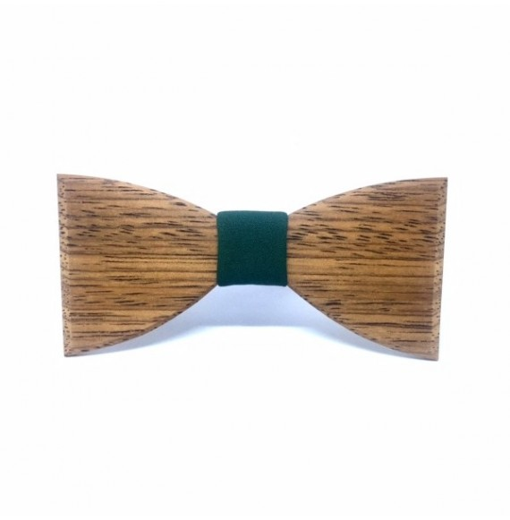 Wooden bow tie BOHO GREEN