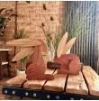 Drewniany zając - dekoracja Wielkanocna