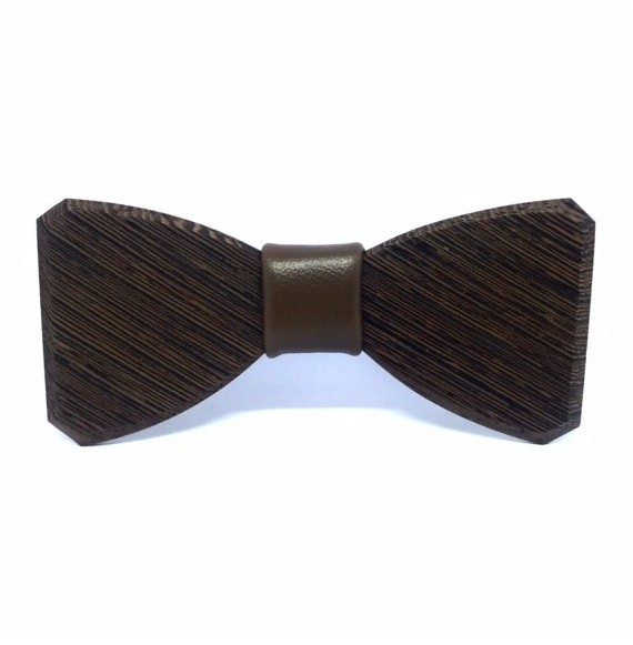 Wooden bow tie Clessidra