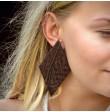 WENGE large asymmetrical earrings