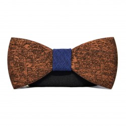 Wooden bow tie with patterns BOHO