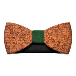 Wooden bow tie with patterns RUSTIC II