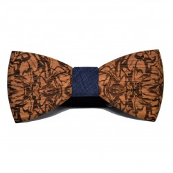 Wooden bow tie with patterns