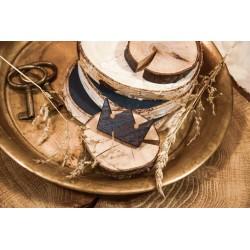 Wooden brooch CROWN