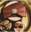Drewniany komplet z jutowym sznurkiem