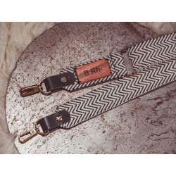 Adjustable purse strap with personalization