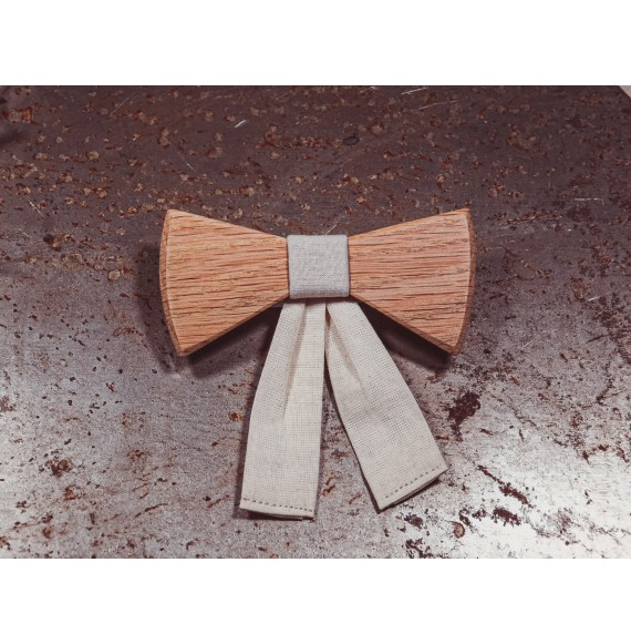 Drewniana muszka damska Cotton Oaky