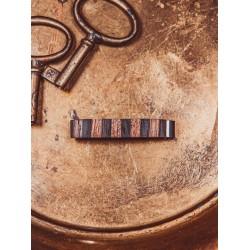 Wooden tie clip UNIQUE STRIPES No3