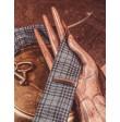 Drewniana spinka do krawata