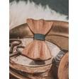 Drewniana muszka ręcznie rzeźbiona NATURAL OAK