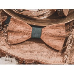 Hand-carved wooden bow tie NATURAL OAK