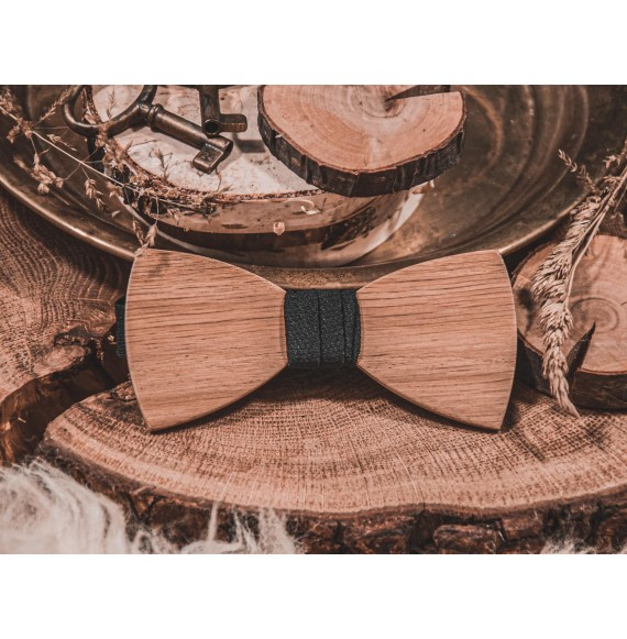 Wooden bow tie SIMPLY OAK