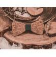 Wooden bow tie BOHO GREEN