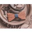 Wooden bow tie ELEGANT BLUE LATTICE