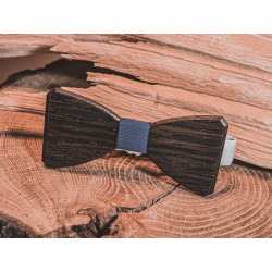 Wooden bow tie Clessidra Blue