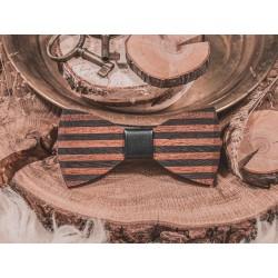 Wooden bow tie UNIQUE STRIPES