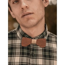 Wooden bow tie Gold Curio