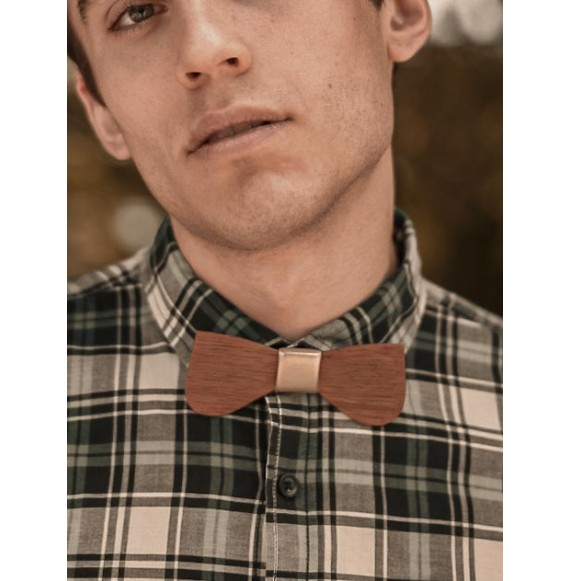 Wooden bow tie VELOURS VIOLET