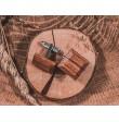 Wooden bow tie with cufflinks