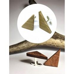 Drewniane spinki do mankietów LONG TRIANGLE