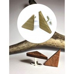 Wooden cufflinks LONG TRIANGLE